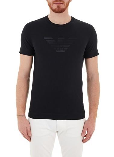 Emporio Armani  Baskılı Bisiklet Yaka % 100 Pamuk T Shirt Erkek T Shırt 3K1Te6 1Jshz 0920 Lacivert